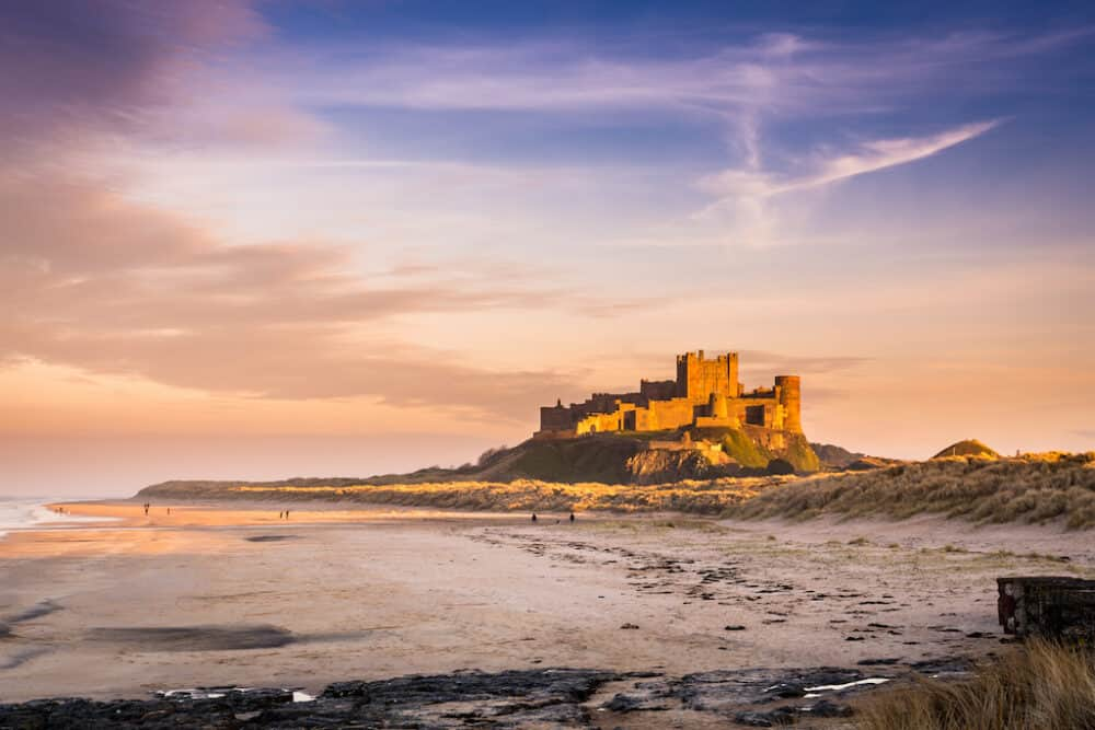 Bamburgh Castle - stunning places to visit in Northumberland