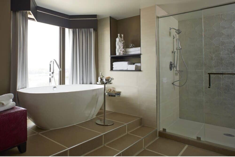 Romantic hotel bathroom