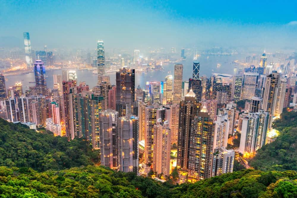 View from Victoria Peak Hong Kong