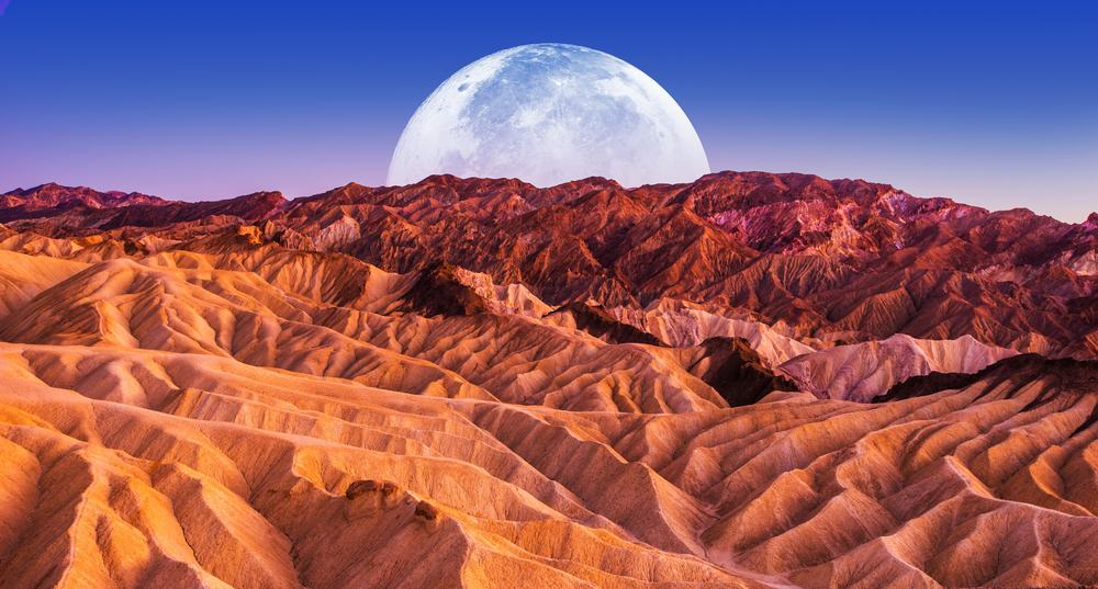 Death Valley with Moon