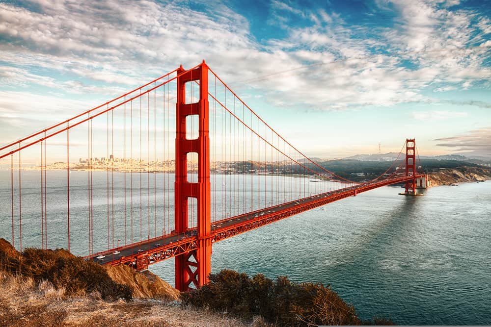 Golden Gate Bridge - great places to visit in California
