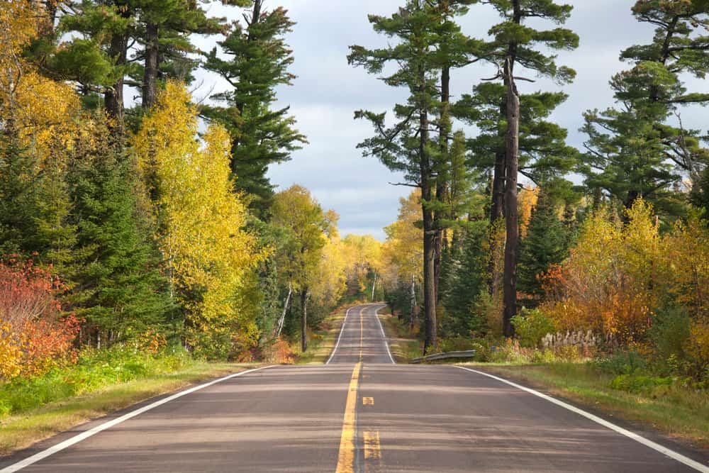 Gunflint Trail -beautiful places to visit in Minnesota