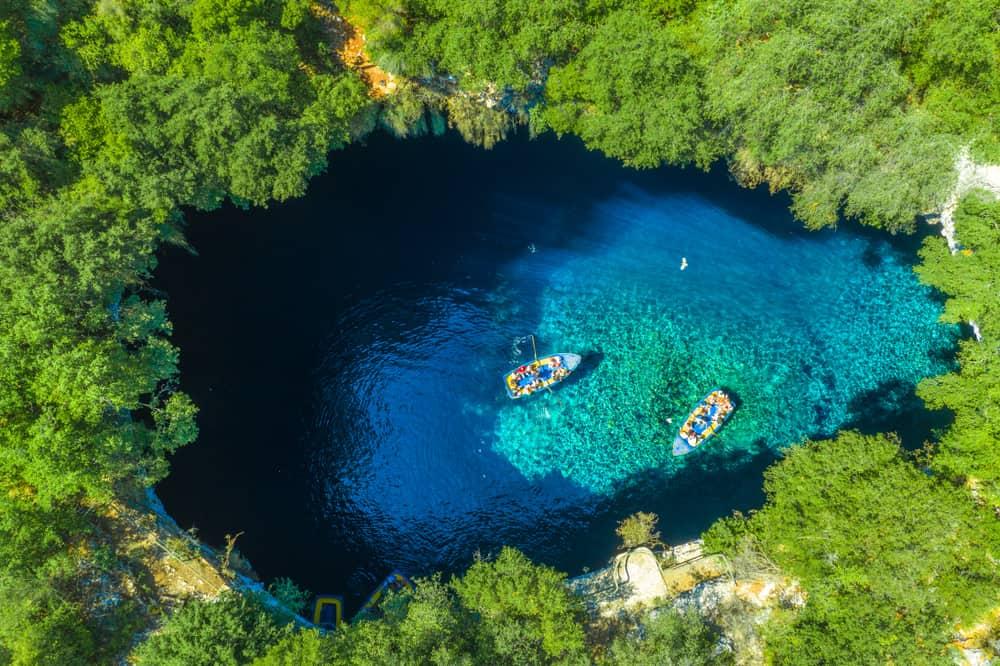 Melissani Lake -unpsoilt places to visit in Kefalonia