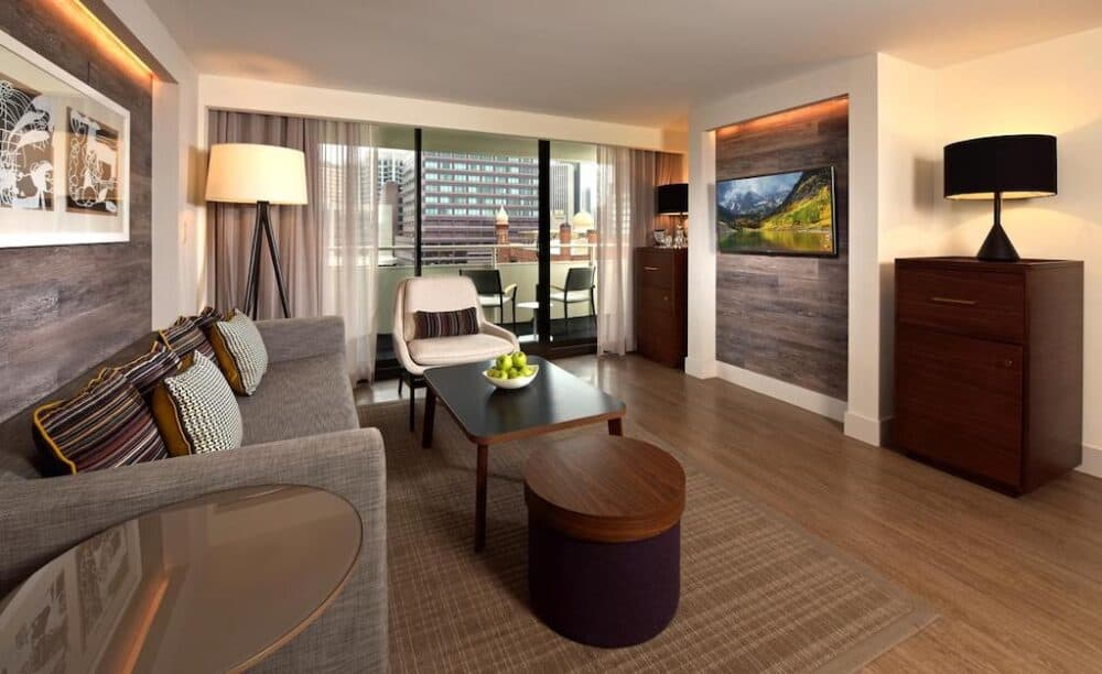 Romantic hotel suite in Denver