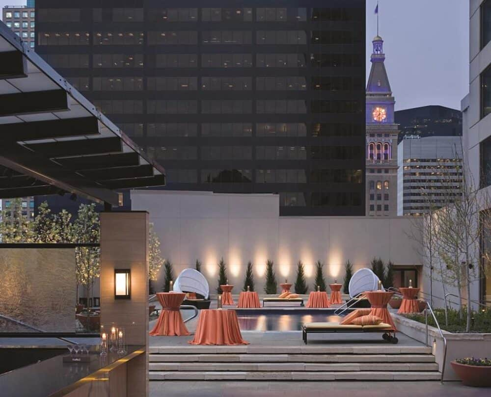 Romantic hotel terrace Denver