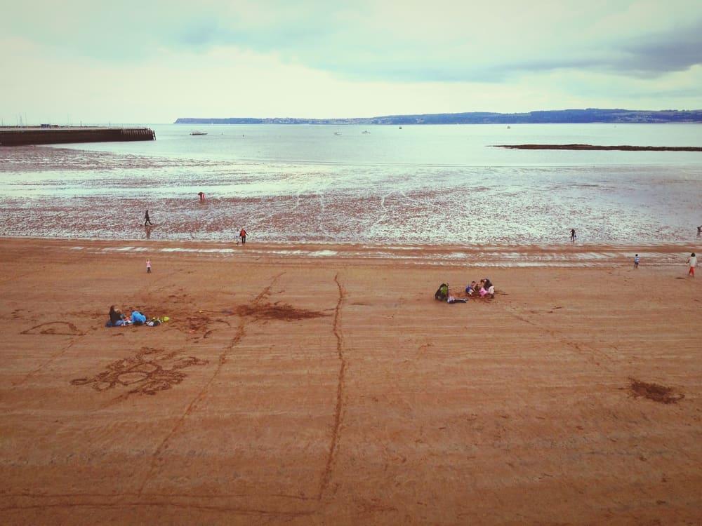 Torquay Sandy Beach Devon