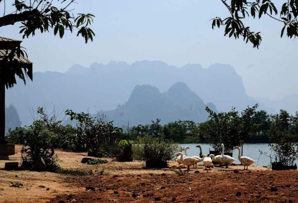 View of karsts from Kyauk Ka Lat Pagoda