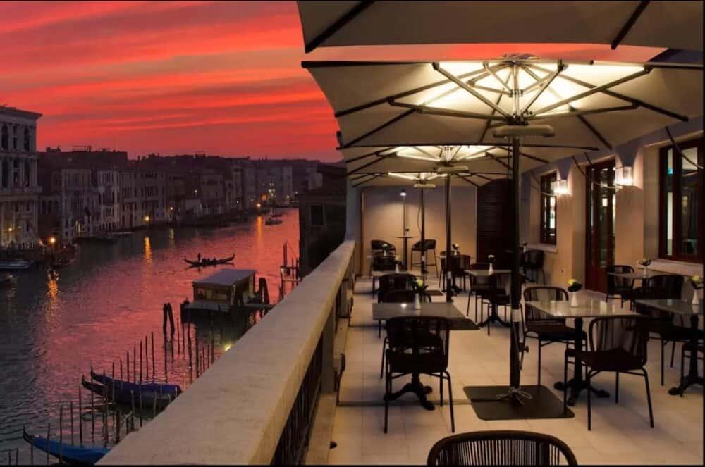 Romantic terrace in Venice