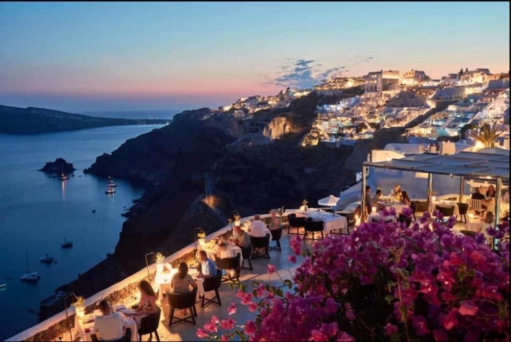 Romantic views Santorini
