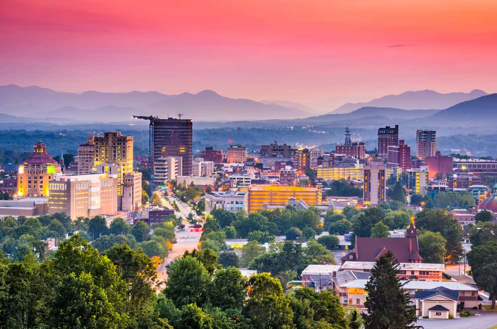 Most romantic hotels in Asheville