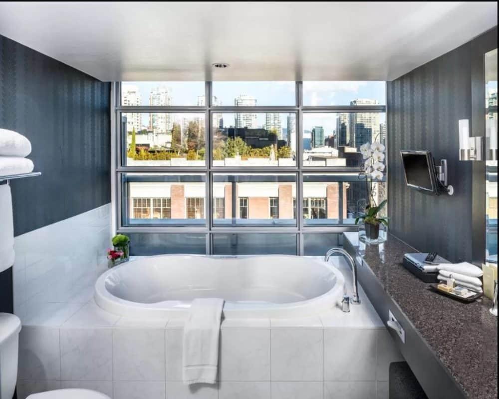 Romantic hotel bathroom Vancouver