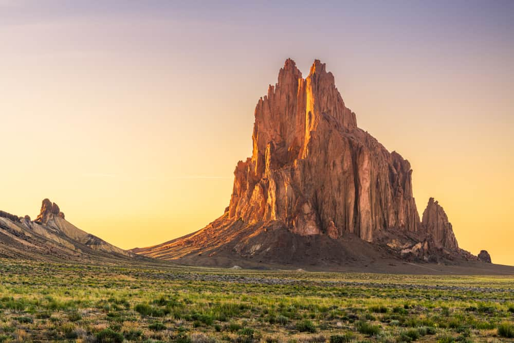 Shiprock - beauty spots in New Mexico