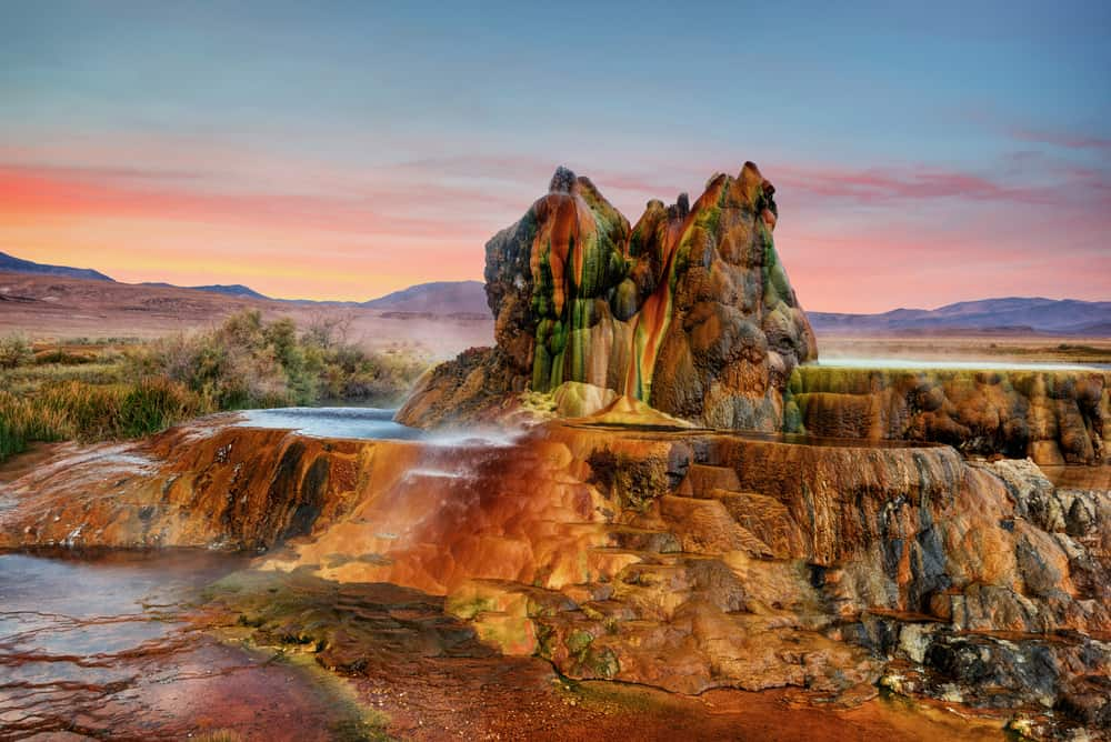 Fly Geyser - most beautiful places to visit in Nevada
