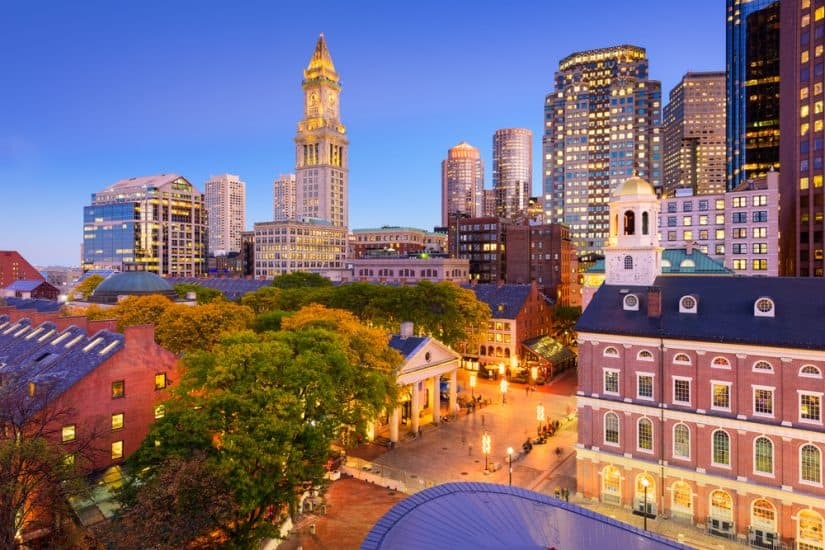 Most romantic hotels in Boston