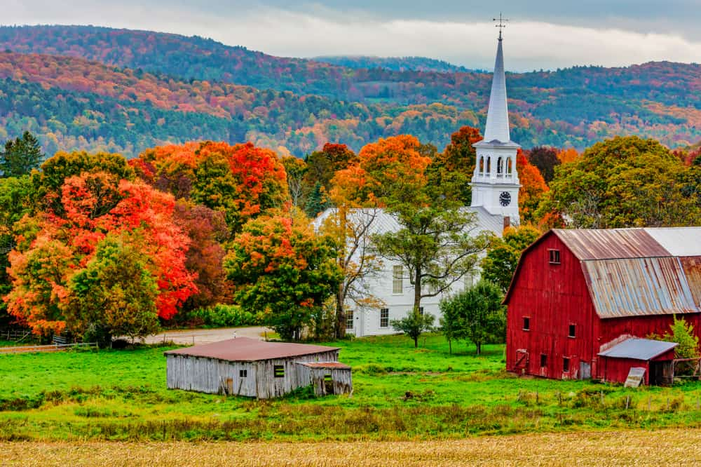 Woodstock - beauty spots in Vermont