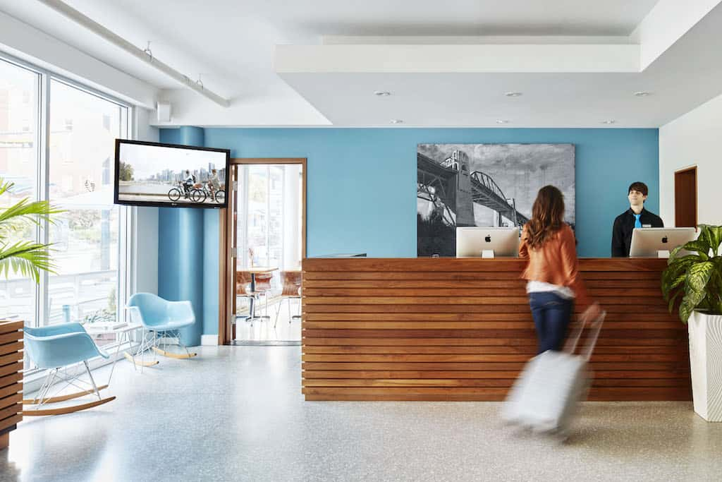 Hip hotel in Vancouver