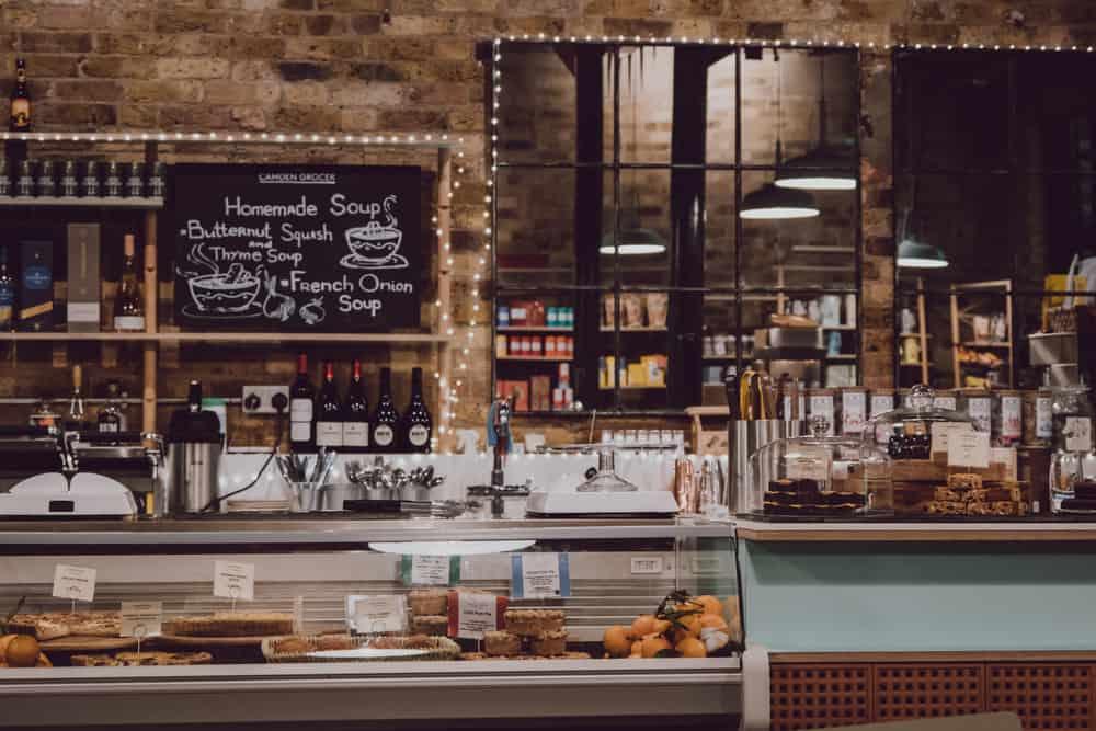 Trendy cafe London