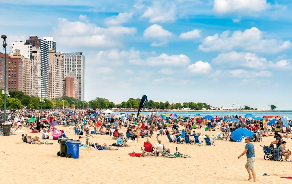 Chicago beach August