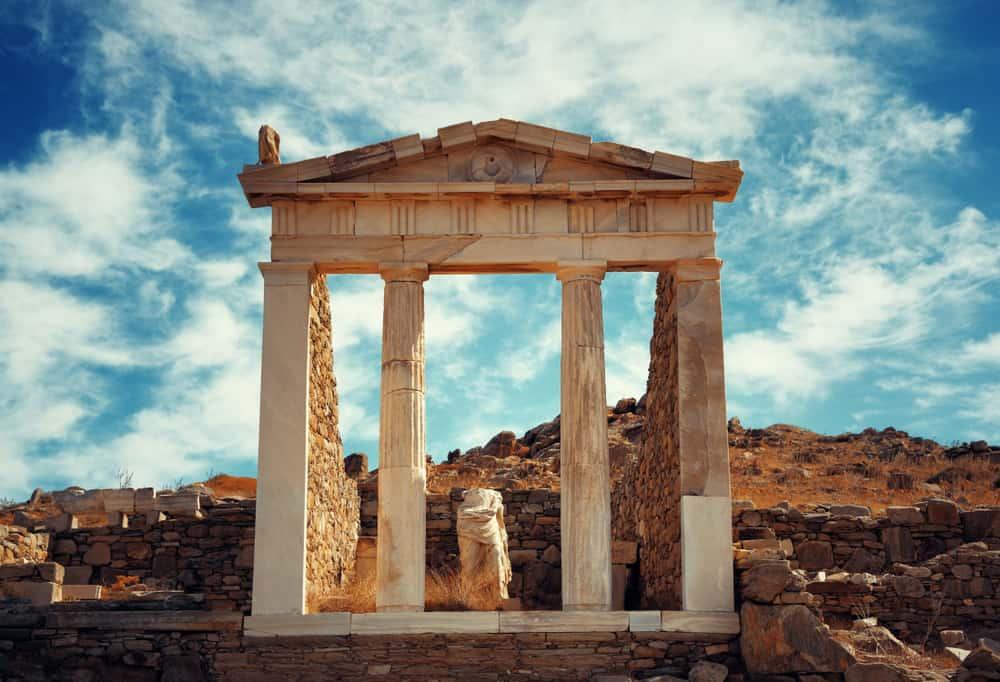 Delos Ruins Greece