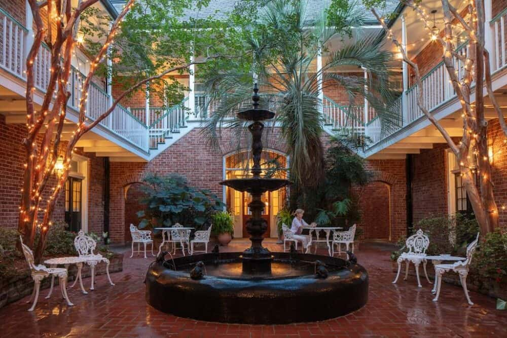 Romantic hotel in the French Quarter New Orleans
