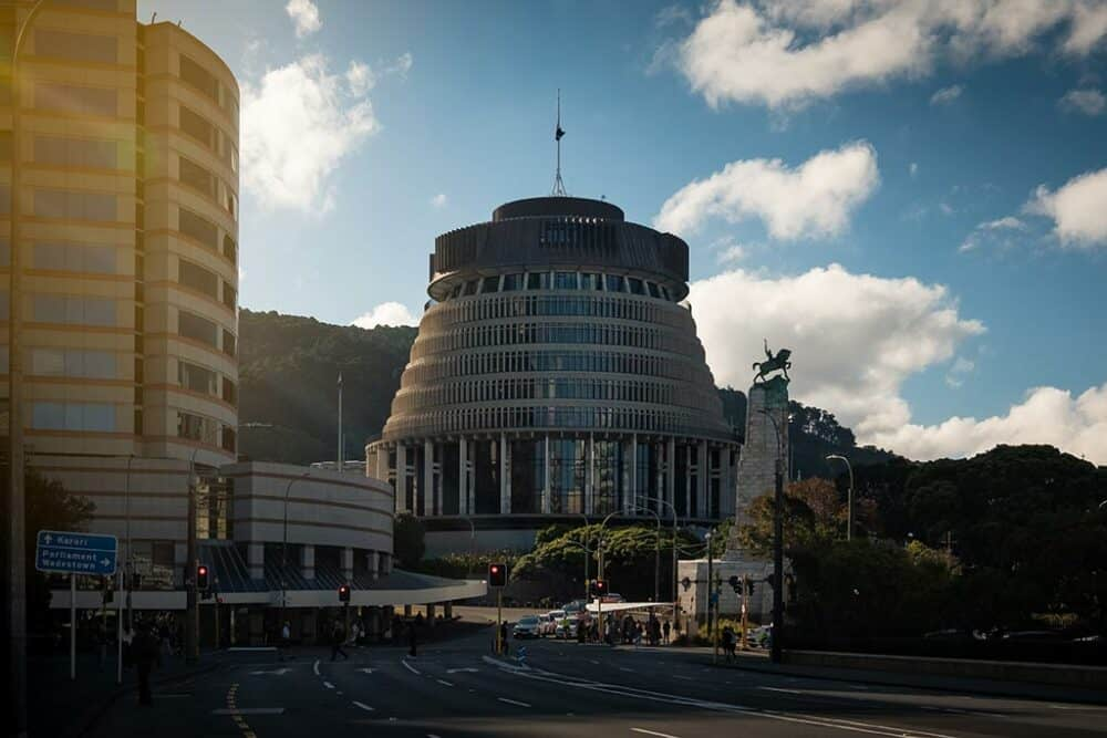 Beehive - great things to do in Wellington