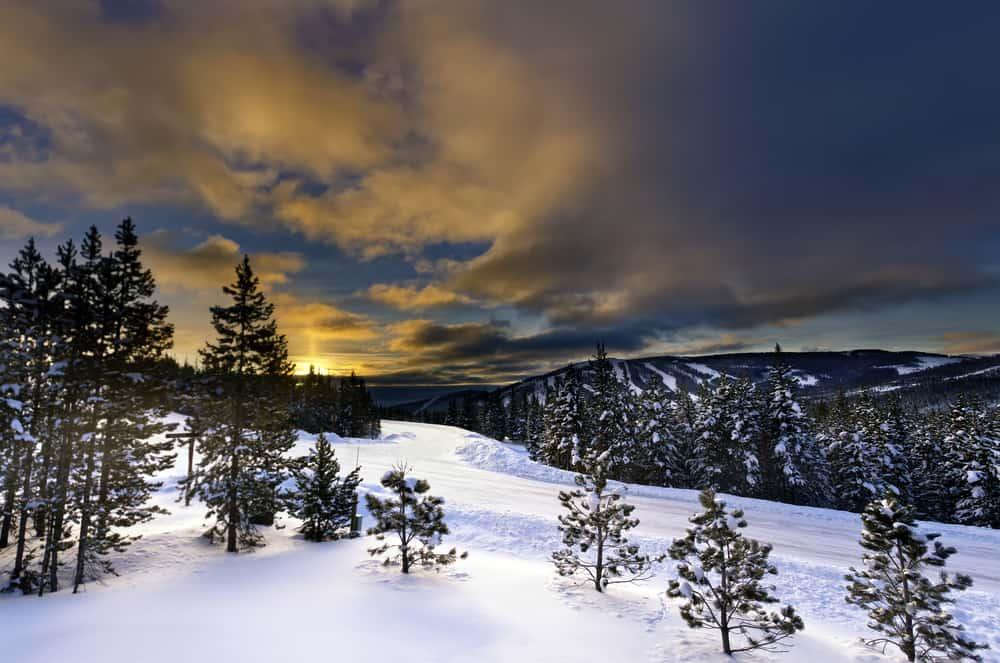 Big Sky Montana in the winter