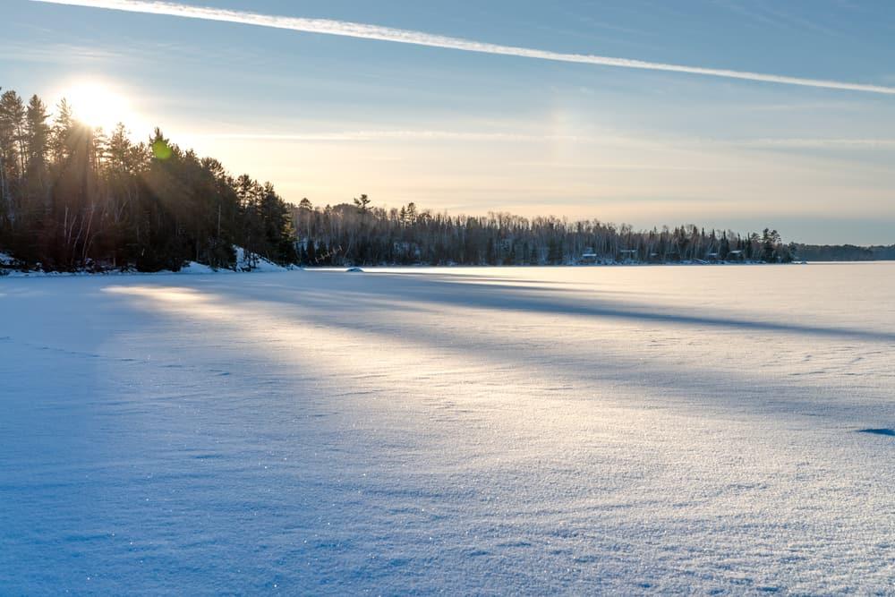 Moosehead Lake Maine in the winter
