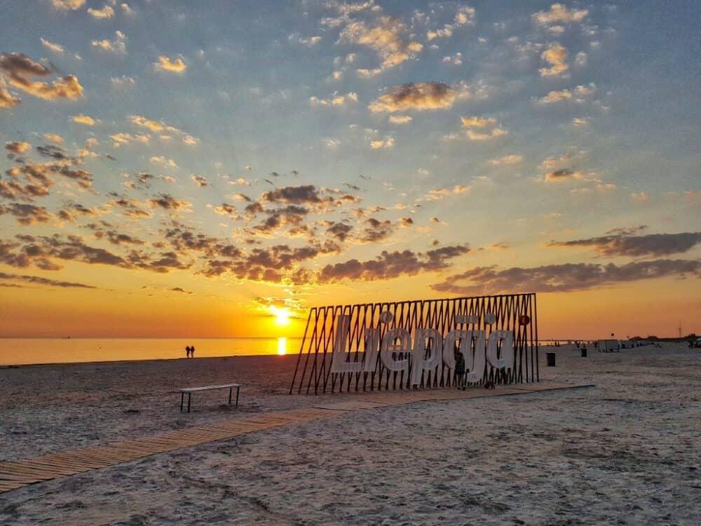 Liepaja Beach in Latvia