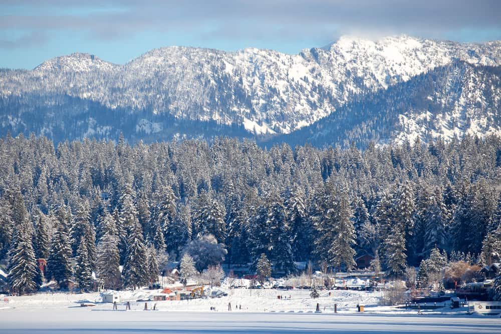 Payette National Forest Idaho in January