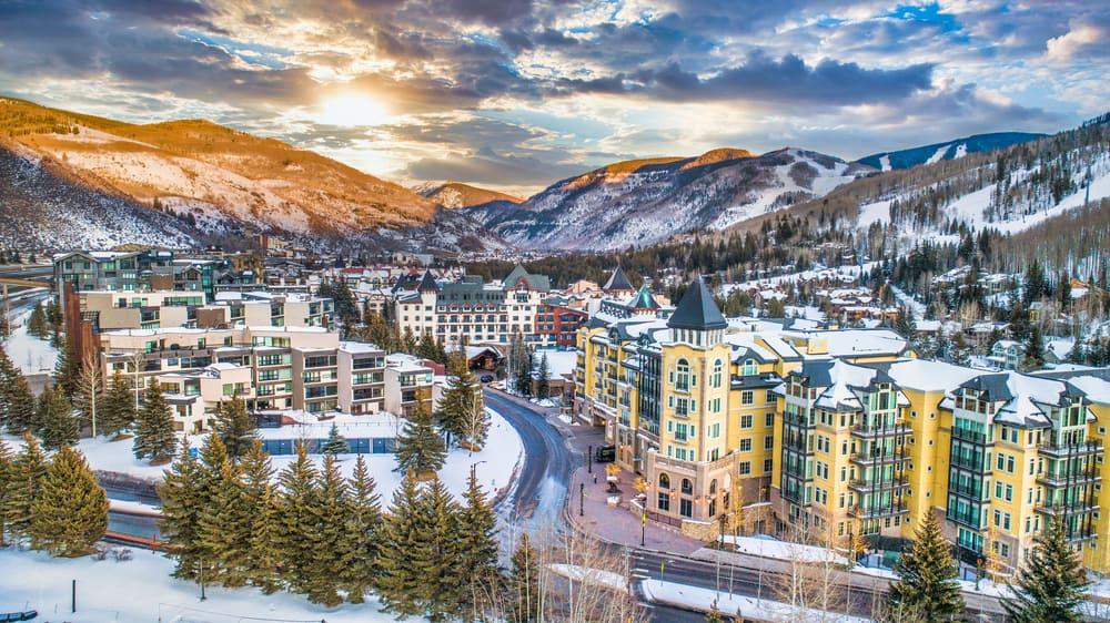 Vail Ski Resort in the winter USA