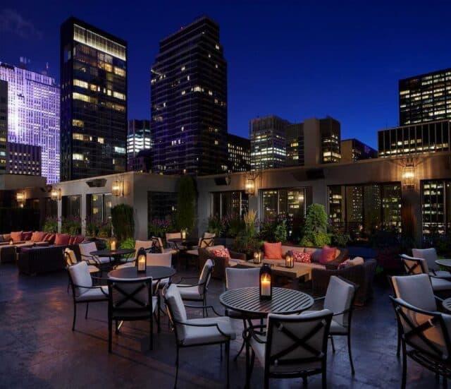 Modern romantic hotel in New York