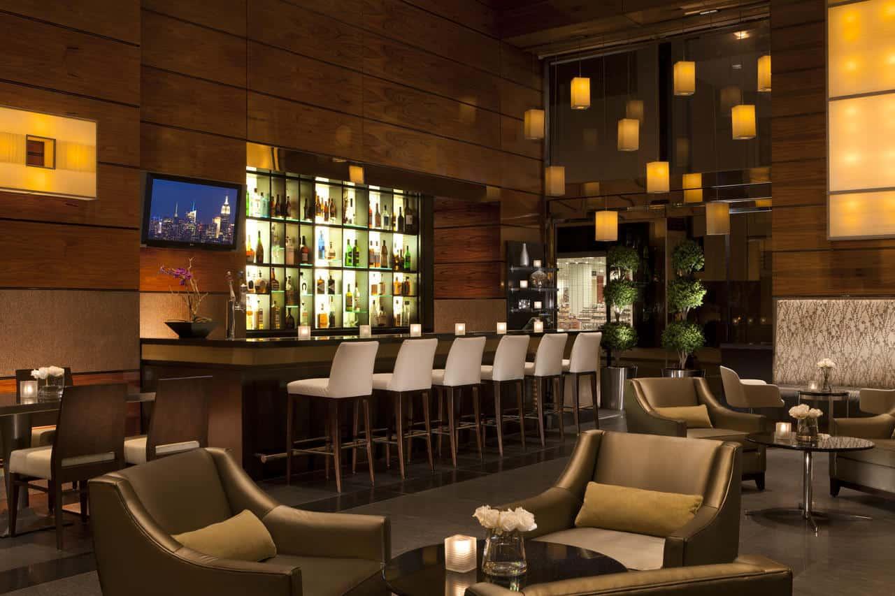 Romantic hotel bar in New York