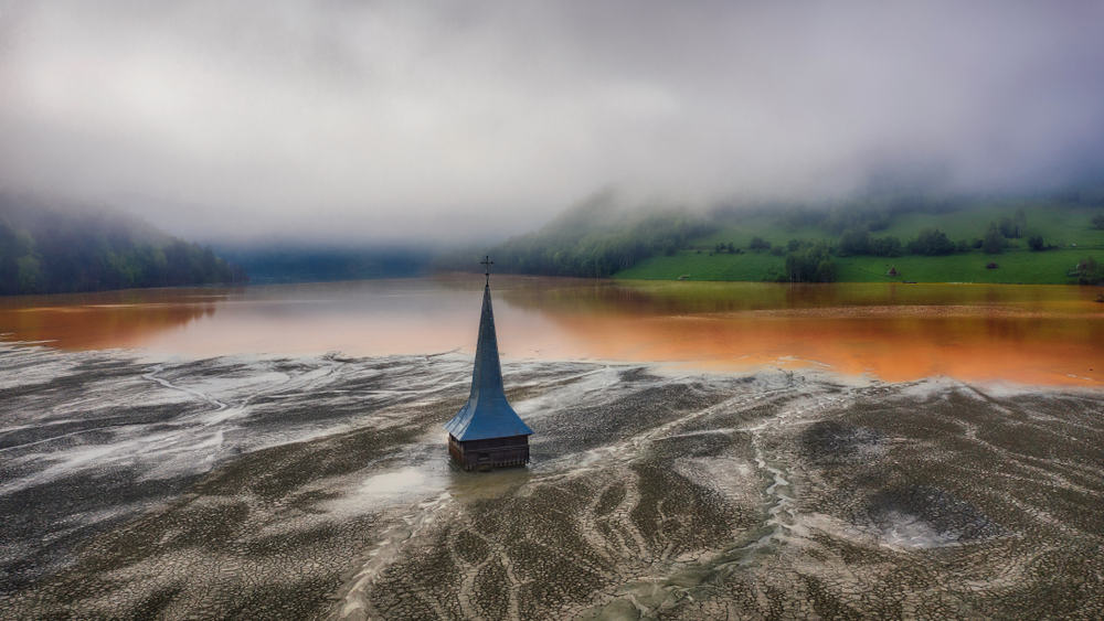 Geamana submerged city in Romania