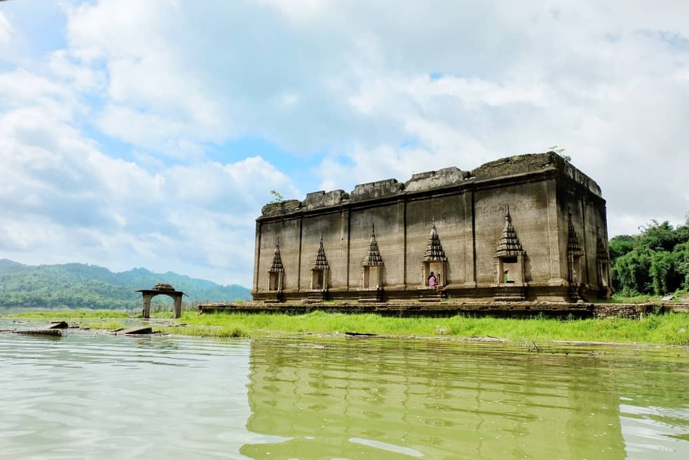 Muang Badan Temple underwater